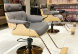 New design excellent wooden hair salon styling chair