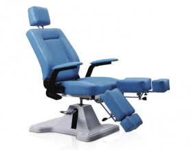 Portable reclining spa salon pedicure chair with hydraulic pump in the base