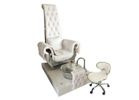 High Back Queen Throne Chair King Pedicure Chairs Used Nail Salon Sofa with foot basin