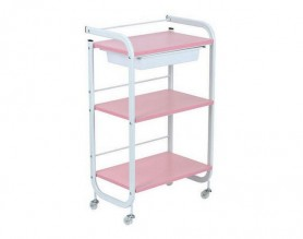3 levels Metal Utility Cart Beauty Manicure Rolling Storage Tray Station Spa Pedicure Trolley