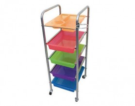 Cheap metal hair stylist color trolley salon rolling cart storage on wheels barber furniture
