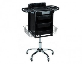 European adjustable height beauty mobile storage cabinet styling trolley salon rolling cart tray station