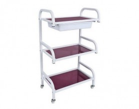 Metal Beauty 3-Shelf Trolley Salon Rolling Storage Cart Tray Spa Pedicure Stations