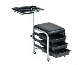 Metal manicure station pedicure stool nail trolley salon chair beauty rolling storage tray cart