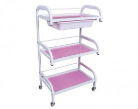 White Beauty 3-Shelf Trolley Salon Rolling Storage Cart Tray Spa Manicure Workstations