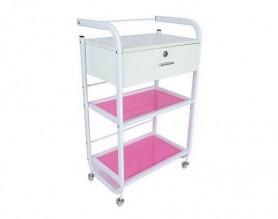 White Manicure Rolling Storage Cart Beauty Spa Trolley Salon Furniture Factory