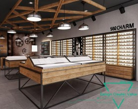 Commercial Wooden Eyewear Store Cabinet Optical Glass Display Counter Sunglasses Showcase