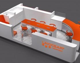 Customized shopping mall eyebrow beauty bar kiosk design manicure table bar station