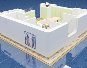 Fashion design manicure station display table mall nail bar wholesale beauty salon kiosk
