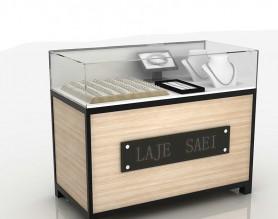 Modern glass jewelry shop display rack gold counter cabinet watch showcase