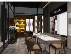 Latest Wooden Furniture Designs Wall Mounted Eyewear Showcase Optical Display Cabinets For Optical Furniture