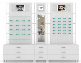 Lighting Wall Eyewear Display Counter Optical Shop Design Display Showcase Design China Made