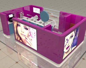 Mall nail bar kiosk for nail polish manicure station display salon beauty service