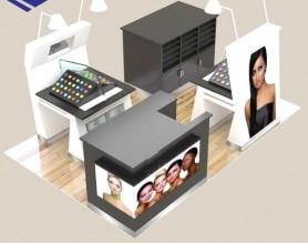 New Shopping Mall make up cosmetic display kiosk design