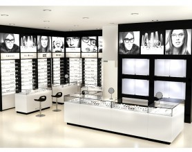 Factory Optical Shop Counter Showcase Eyeglasses Glass Display Cabinets advertising Furniture
