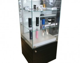 Mall Showroom Cabinet Shop Counter Light Up Glass Display Showcase Advertising Design