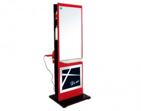 Cheap barber shop makeup mirror styling station