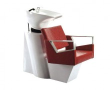 White hair salon washing set shampoo chairs with basin