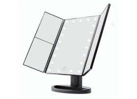 Touch Screen LED Trifold Light Up Makeup Vanity Mirror With Lights