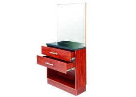 wooden storage cabinet wall styling mirror station barber furniture