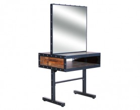 Double sided Metal beauty makeup mirror styling station