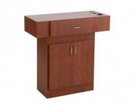 Econo styling station salon counter with storage cabinet