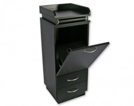 Ashburn Styling Station Wood Salon Storage Cabinet Beauty Counter