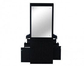Farah Styling Station Double-Sided Barber Mirrors Hairdressing Cabinet
