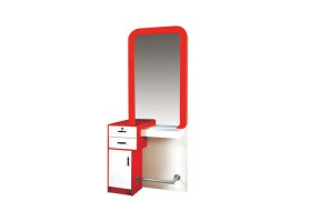 Wholesale Styling Station Hairdressing Mirror Table with Storage Cabinet Price