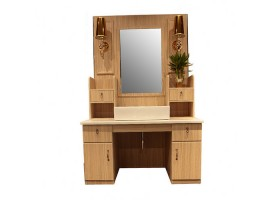 Beauty styling station wooden cabinet salon mirror table wash basin