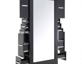 Barber Shop Furniture Salon Storage Cabinet Styling Tower Shelf Workstation