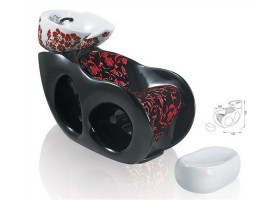 wholesale salon furniture shampoo chairs with basin