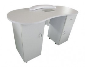 Amazon wood nail station manicure table with fan