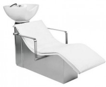 Luxury design white shampoo chair hair backwash unit