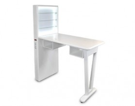 Salon furniture led light nail table modern manicure station