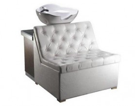 Leather salon shampoo chairs hair backwash bench