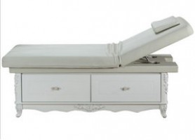 Wood treatment massage table beauty facial bed with cabinet