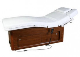 Comfortable wood electric massage table facial bed spa equipment