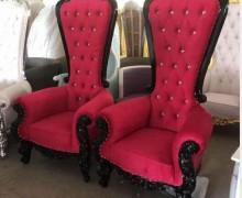 European beauty salon furniture reception sofa lounge client armchair throne station