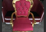 Wood Nail Salon Couch Sofa Waiting Reception Spa Client Throne Royal King Chair