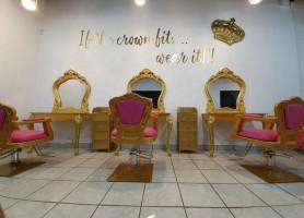 European Beauty Gold Queen Manicure Table Nail Throne Pedicure Chair Salon Furniture
