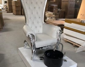 Royal Nail Throne Spa Massage Station High Back Queen Pedicure Chair