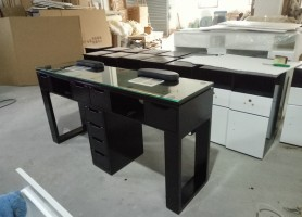 Custom Made Salon Luxury Tufted Manicure Table Station Nail Bar Desk Furniture