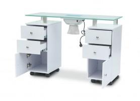 Fashion White Wholesale Nails Polish Salon Bar Furniture Nail Table Manicure Station