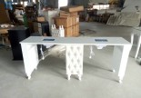 Luxury Queen grey beauty tufted double manicure table salon furniture nail bar station