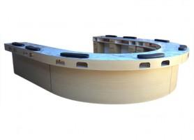 Luxury custom U shaped long double manicure station nail bar table
