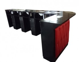 Modern long double nail desk station bar manicure table customized salon furniture