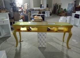 Modern nail desk manicure table salon furniture double nail bar station