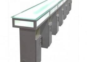 White design beauty nail salon furniture manicure table long nail bar desk station