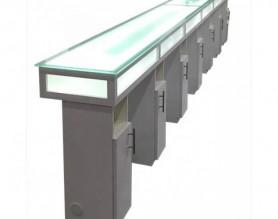White beauty salon furniture manicure table long nail bar reception desk station